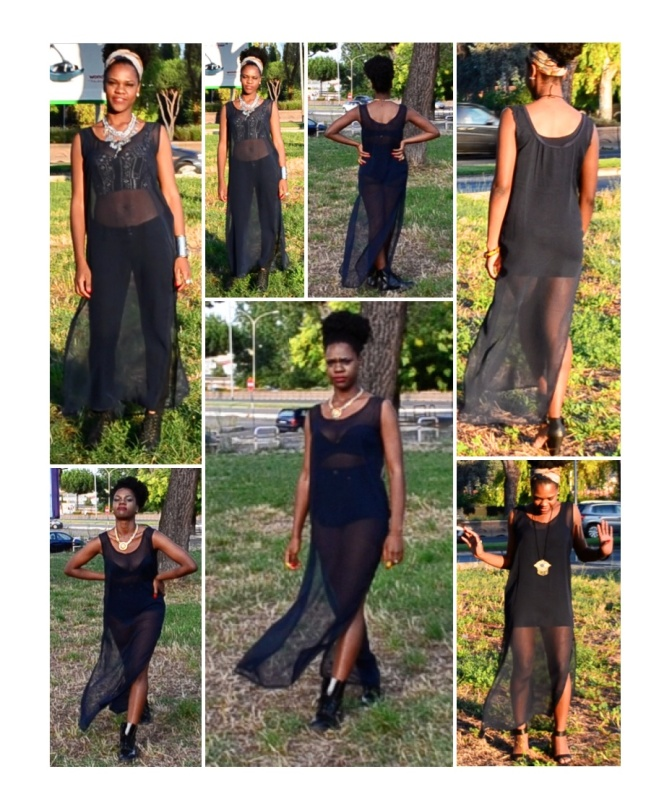 DIY Sheer Maxi Dress